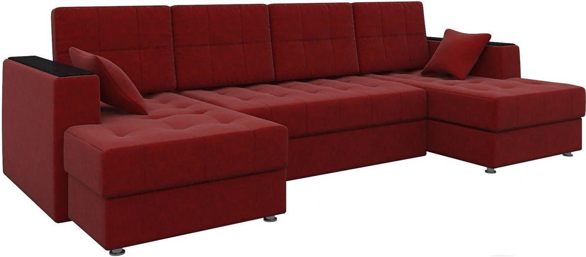Диван Mebelico Эмир-П 85 микровельвет красный - фото 2