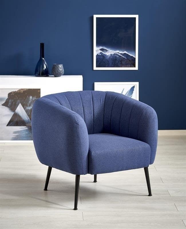 Кресло Halmar LUSSO (синий) V-CH-LUSSO-FOT-C.NIEBIESKI - фото 2