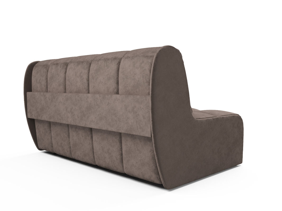 Диван Мебель-АРС Аккордеон Барон №2 (бархат серо-шоколадный  STAR VELVET 60 COFEE) - фото 4