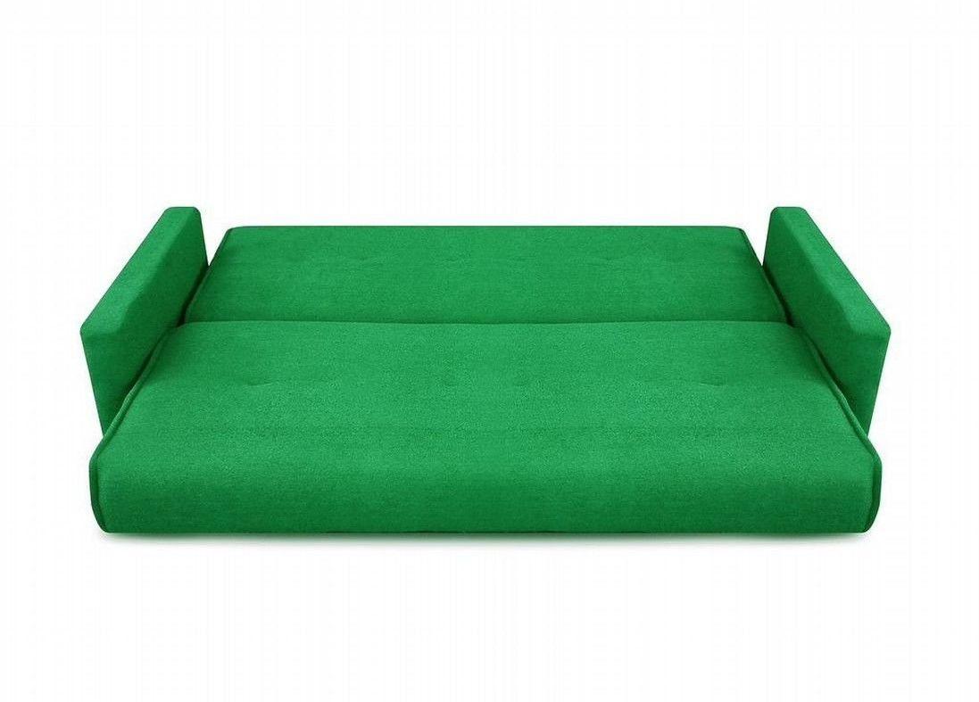 Диван Луховицкая мебельная фабрика Милан (Астра зеленый) пружинный 120x190 - фото 3