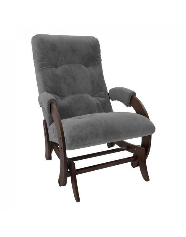 Кресло Impex Кресло-гляйдер Модель 68 Verona орех (Antrazite grey) - фото 1