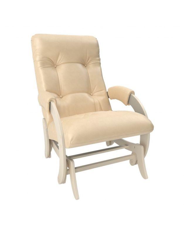 Кресло Impex Кресло-гляйдер Модель 68 экокожа сливочный (polaris beige) - фото 1