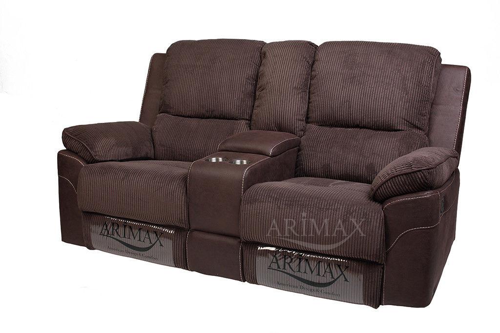 Диван Arimax Брукс (Цикорий) с консолью и реклайнерами - фото 1