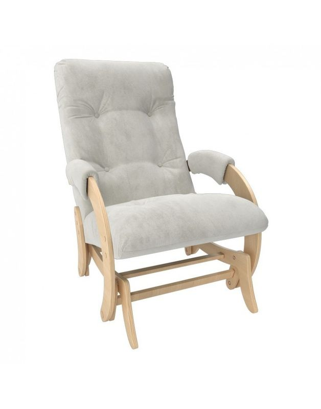 Кресло Impex Кресло-гляйдер Модель 68 Verona натуральный (light grey) - фото 1