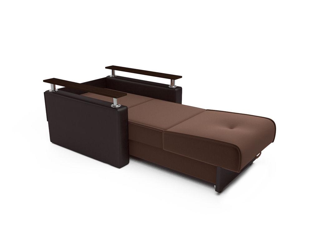 Кресло Мебель-АРС Шарм - шоколад (микровелюр + экокожа) - фото 6