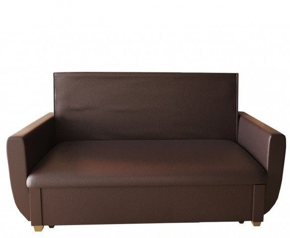 Диван Кристалл Аккордеон выкатной (60x195) коричневая экокожа - фото 1