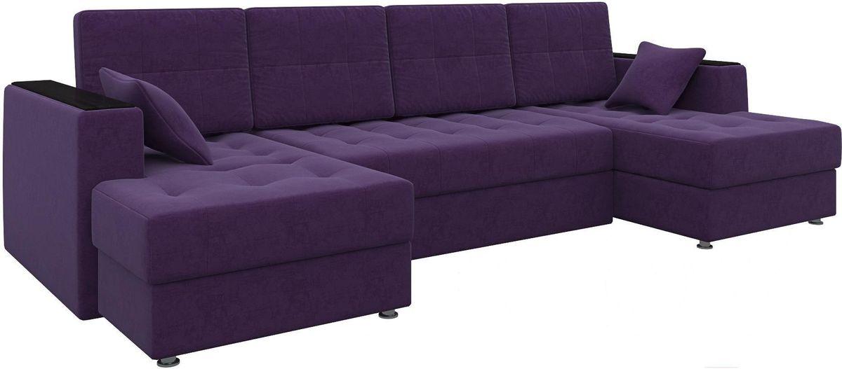 Диван Mebelico Эмир-П 85 микровельвет фиолетовый - фото 1