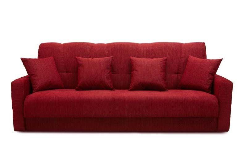 Диван Луховицкая мебельная фабрика Милан 120х190 гобелен/шенилл красный - фото 1