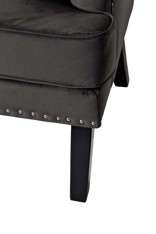 Кресло Garda Decor 24YJ-7004-06437/1 (велюровое серое с подушкой) - фото 4