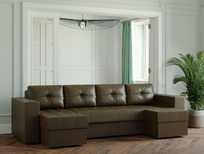 Диван Настоящая мебель Ванкувер Лайт (Модель: 123126) коричневый - фото 1