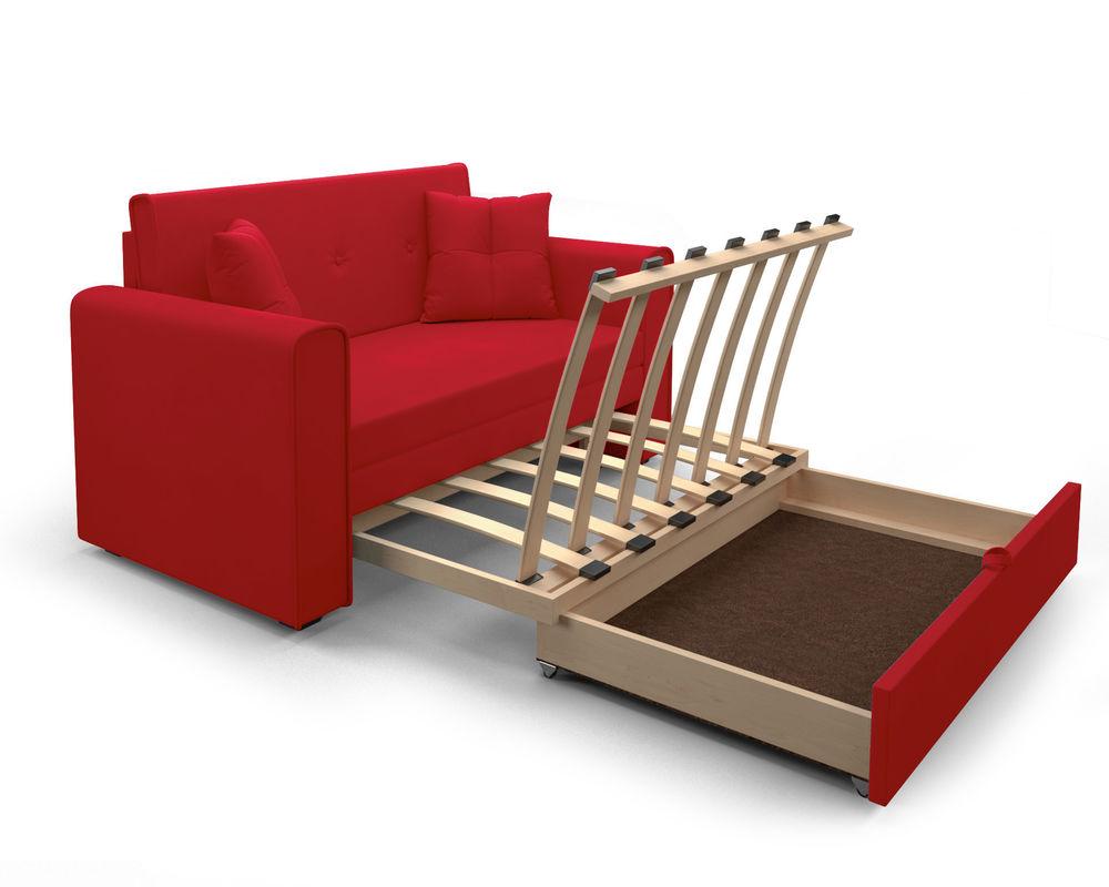 Диван Мебель-АРС Санта (кордрой красный) - фото 6