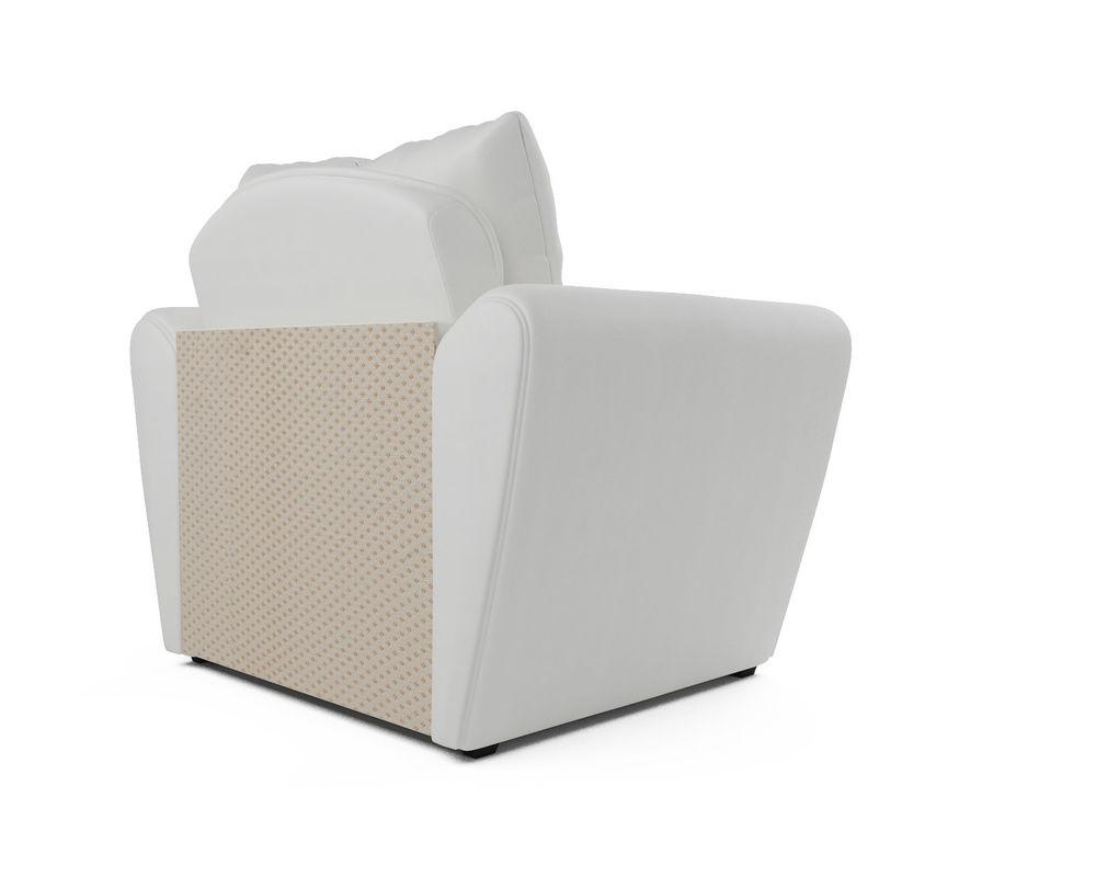 Кресло Мебель-АРС Квартет - экокожа белая - фото 4