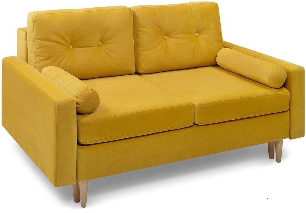 Диван Woodcraft прямой Динс-2 Velvet Yellow - фото 1