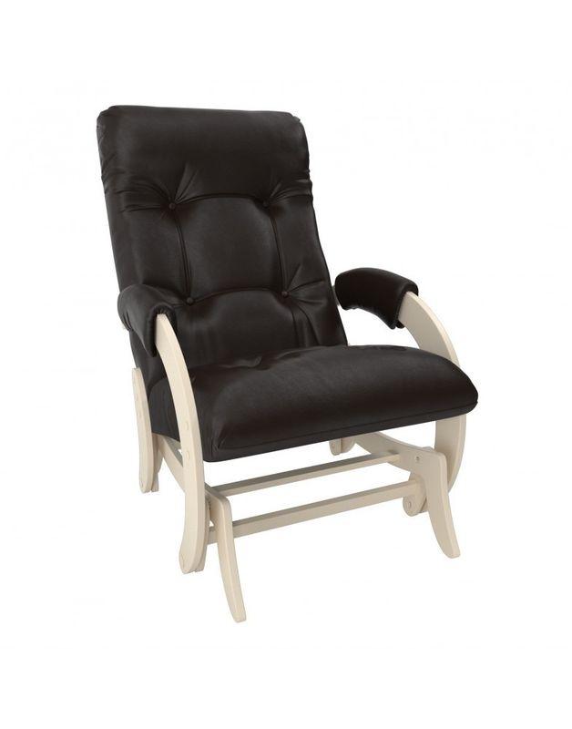 Кресло Impex Кресло-гляйдер Модель 68 экокожа сливочный (dundi 112) - фото 2