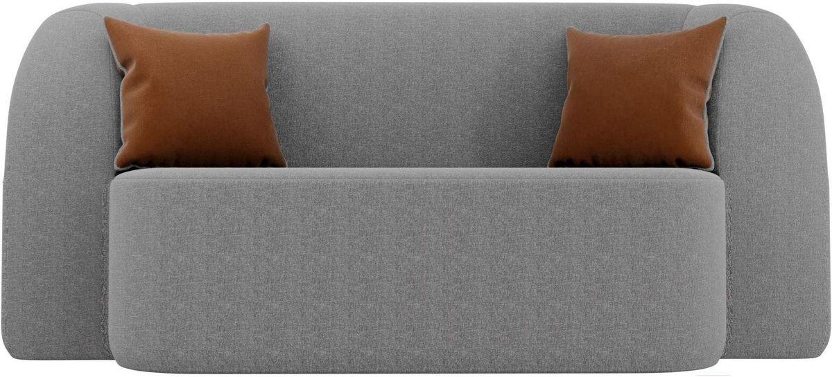 Диван Mebelico Томас 100399 рогожка серый/подушки коричневые - фото 4