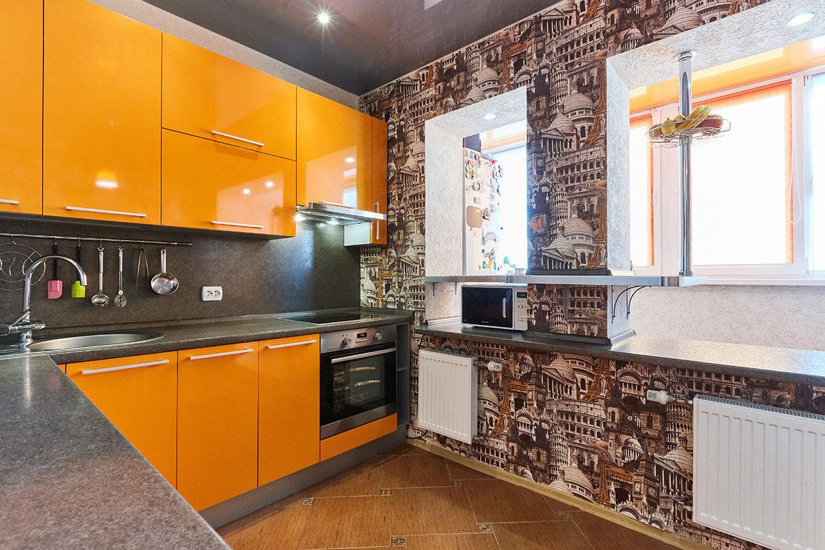 Кухня Шеф кухни из пластика Оранжевый апельсин - фото 8