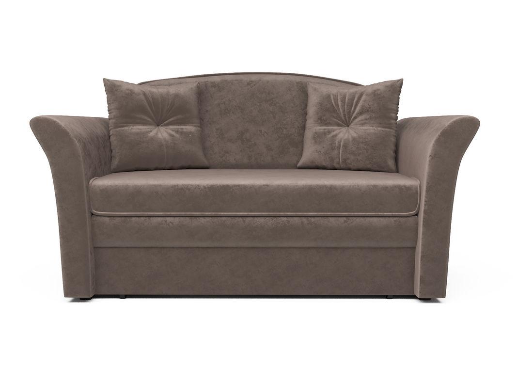 Диван Мебель-АРС Малютка №2 (бархат серо-шоколадный STAR VELVET 60 COFFEE) - фото 2