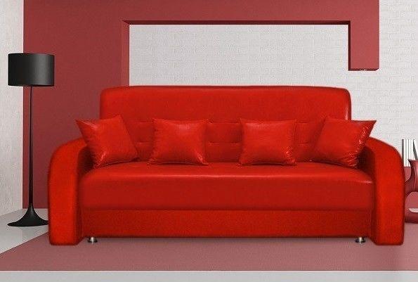Диван Луховицкая мебельная фабрика Престиж красный (140x190) пружинный - фото 3