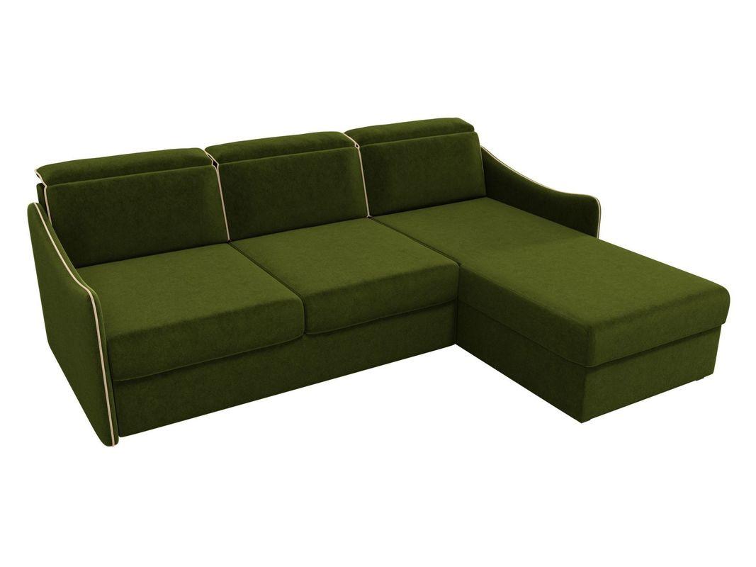 Диван ЛигаДиванов Скарлетт 125 угловой правый 60675 вельвет зеленый - фото 2