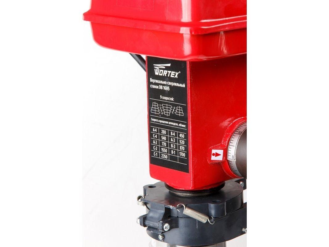 WORTEX DB 1605 (500 Вт, сверление в металле до 16 мм, 9 скор., патрон 16 мм) (DB160500018) - фото 6