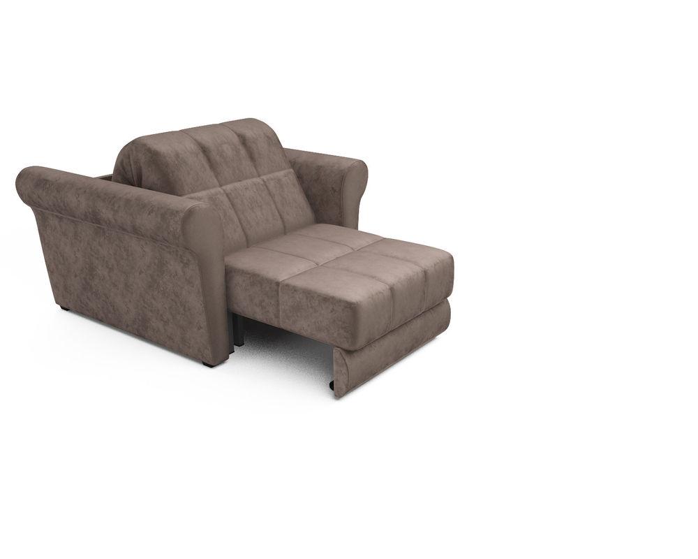 Кресло Мебель-АРС Гранд (бархат серо-шоколадный) - фото 5
