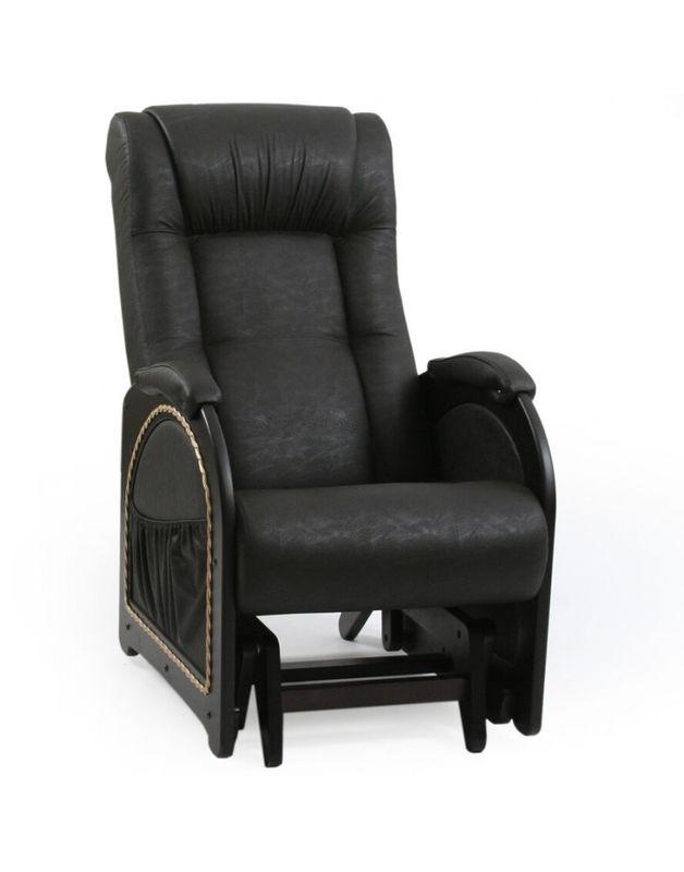 Кресло Impex Кресло-гляйдер Модель 48 экокожа (Антик-крокодил) - фото 5