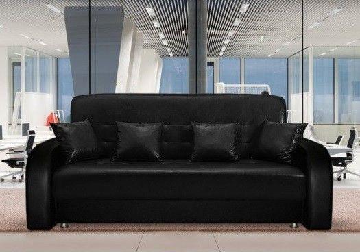 Диван Луховицкая мебельная фабрика Престиж черный (120x190) пружинный - фото 1