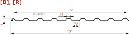 Профнастил Изомат-Строй П-20А,R-1100-0.4-Zn - фото 3