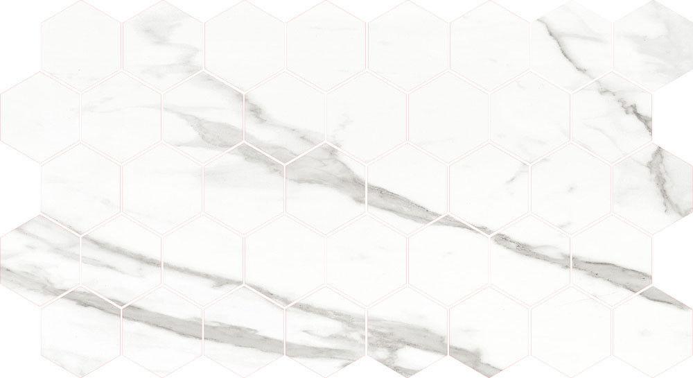 Мозаика Leedo Ceramica Marble Porcelain Calacatta POL Hexagon (КГ-0134) - фото 1
