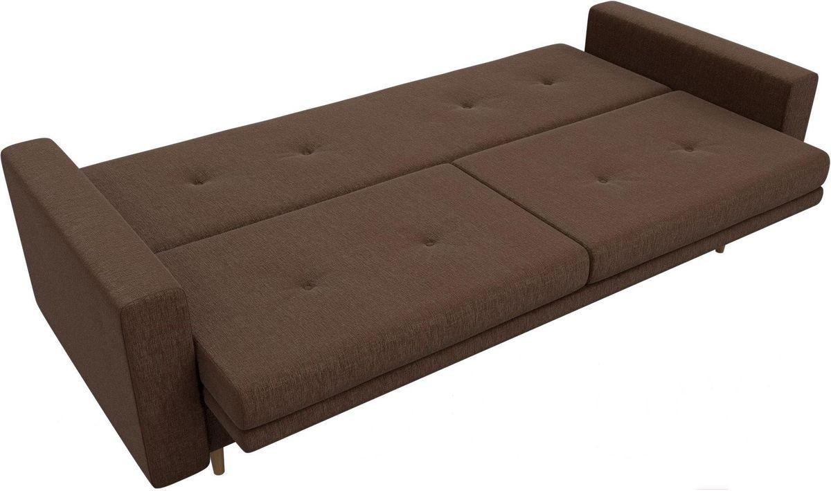 Диван Mebelico Белфаст 100596 рогожка коричневый - фото 5