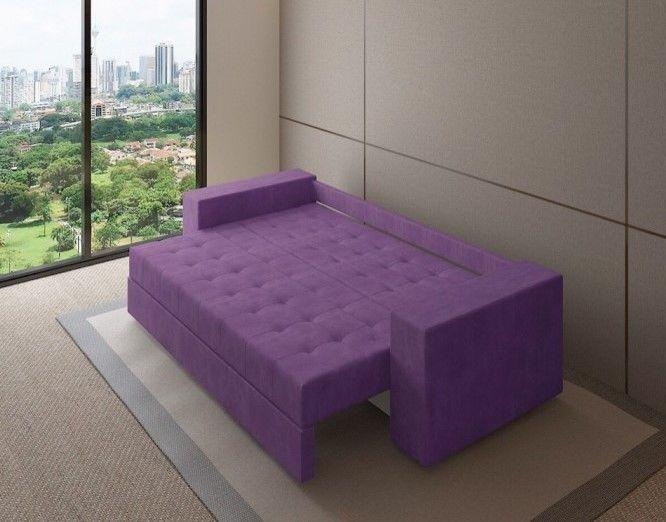 Диван Настоящая мебель Константин (фиолетовый) прямой - фото 2