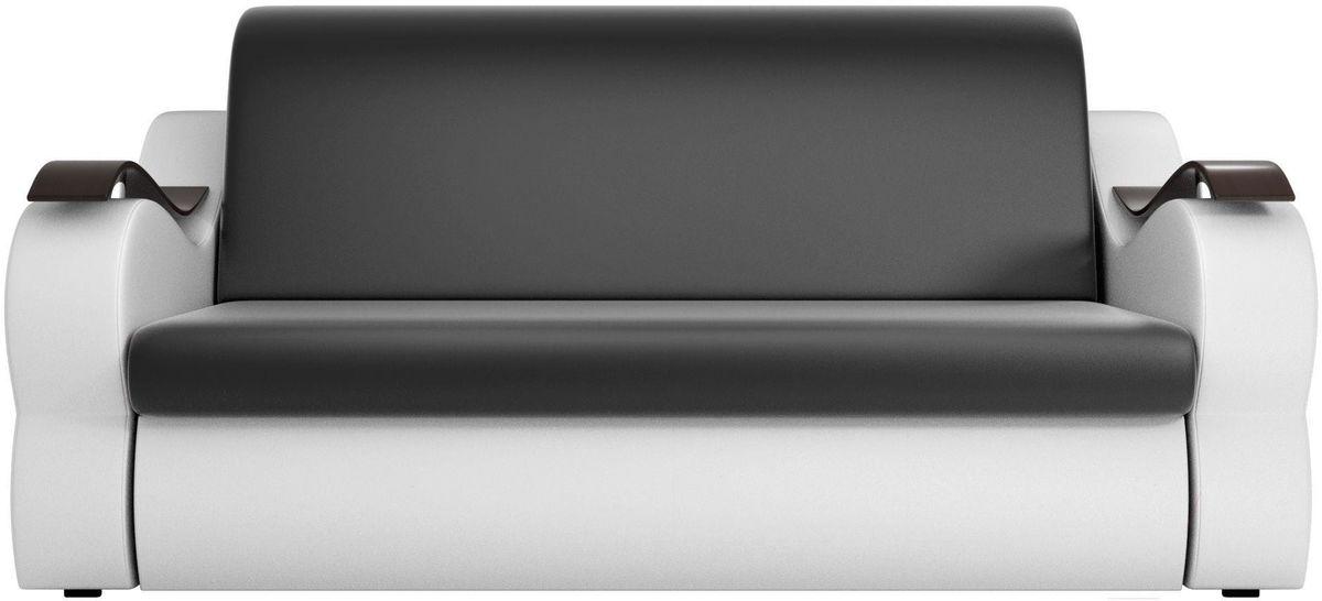 Диван Mebelico Меркурий 222 140,экокожа черный/белый - фото 3