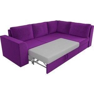 Диван ЛигаДиванов Пауэр угол правый вельвет фиолетовый - фото 2