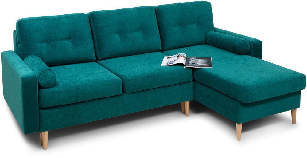 Диван Woodcraft Динс Velvet Угловой Emerald - фото 2