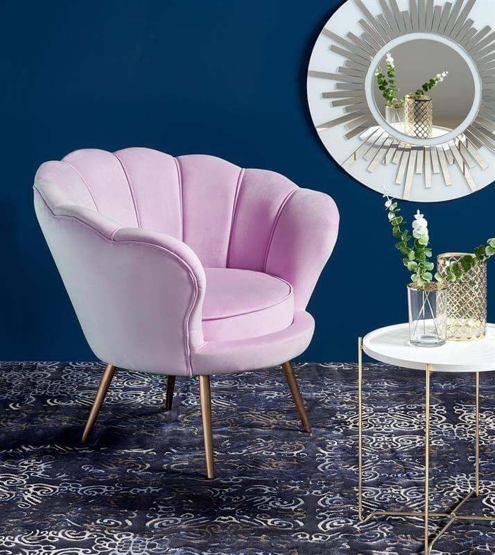 Кресло Halmar AMORINO (фиолетовый/золотой) V-CH-AMORINO-FOT-FIOLETOWY - фото 2