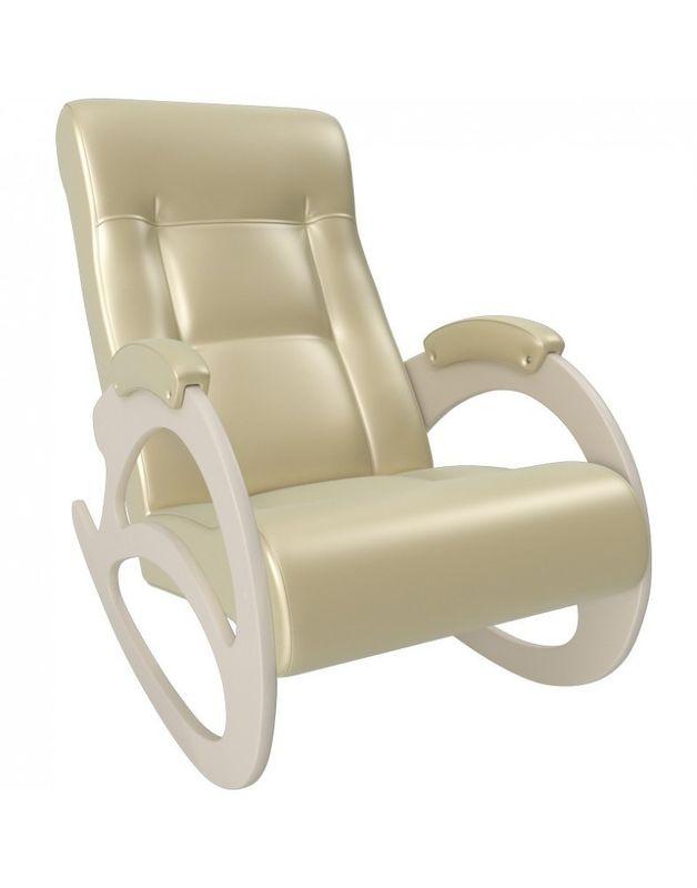 Кресло Impex Модель 4 б/л сливочный экокожа (dundi 109) - фото 3