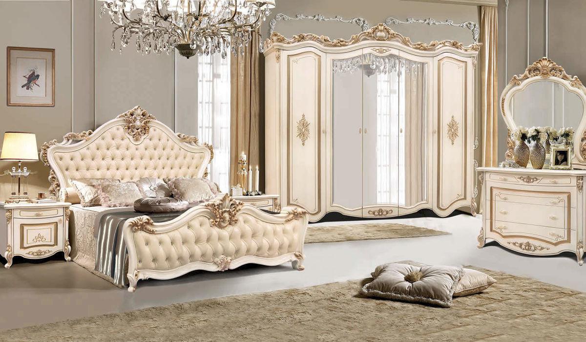Спальня ФорестДекоГрупп Амели 5K с комодом (орех, белая) - фото 1