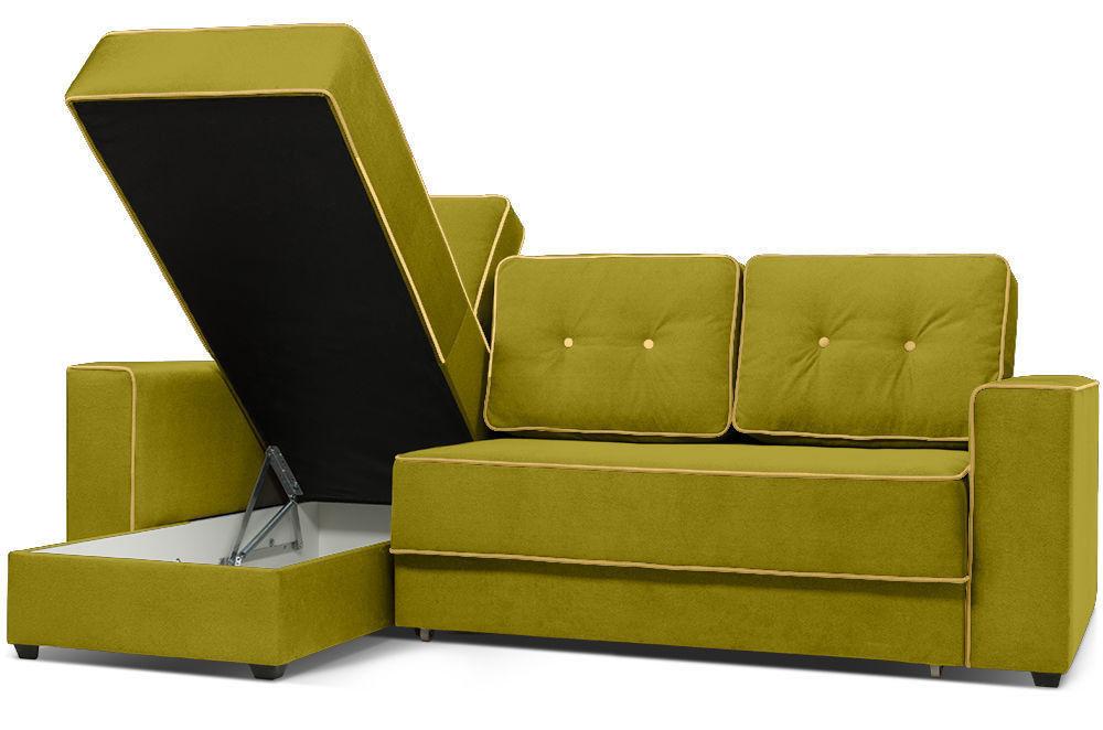 Диван Woodcraft Менли угловой НПБ Velvet Lime - фото 5