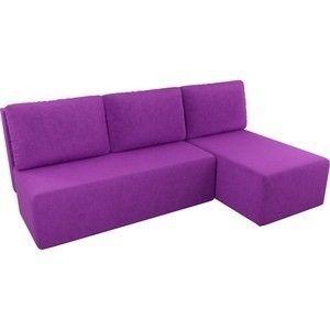 Диван АртМебель Поло угол правый микровельвет фиолетовый - фото 3
