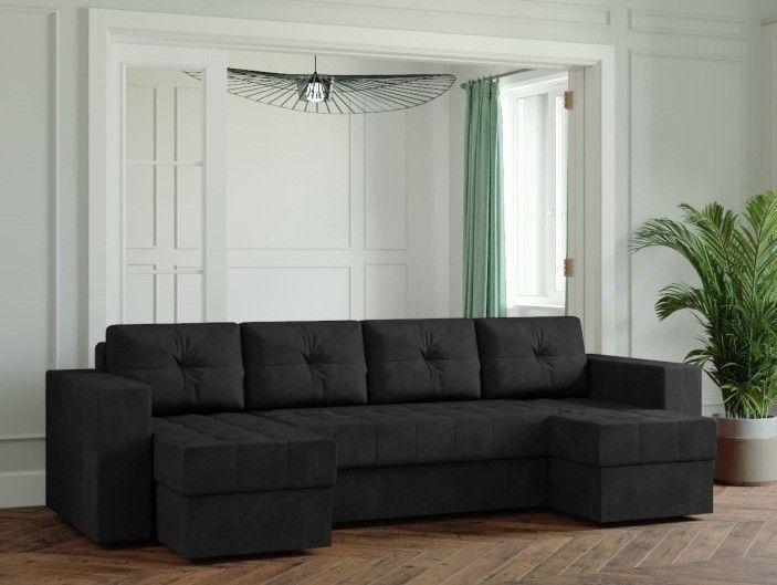 Диван Настоящая мебель Ванкувер Лайт (Модель: 22222) черный - фото 1