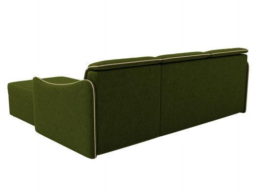 Диван ЛигаДиванов Скарлетт 125 угловой левый 60675 вельвет зеленый - фото 3