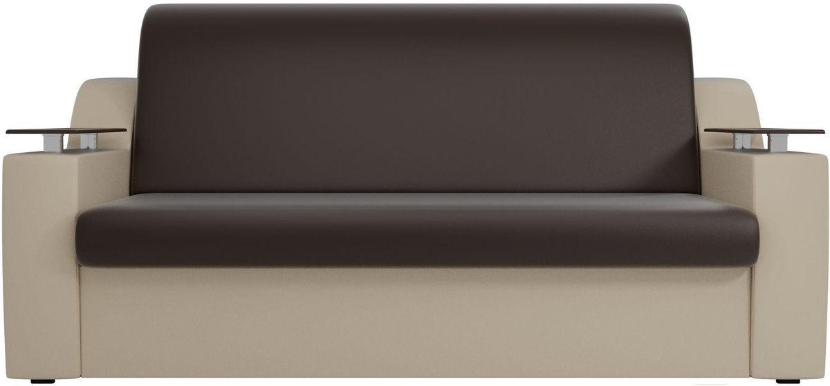 Диван Mebelico Сенатор 100725 100, экокожа коричневый/бежевый - фото 3