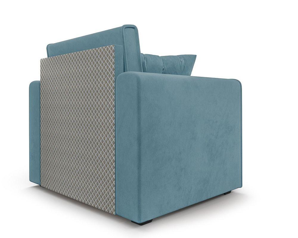 Кресло Мебель-АРС Санта (велюр голубой - Luna 089) - фото 5