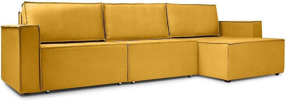 Диван Woodcraft Лофт Velvet Угловой Yellow - фото 3