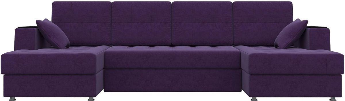 Диван Mebelico Эмир-П 85 микровельвет фиолетовый - фото 2