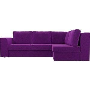 Диван ЛигаДиванов Пауэр угол правый вельвет фиолетовый - фото 5