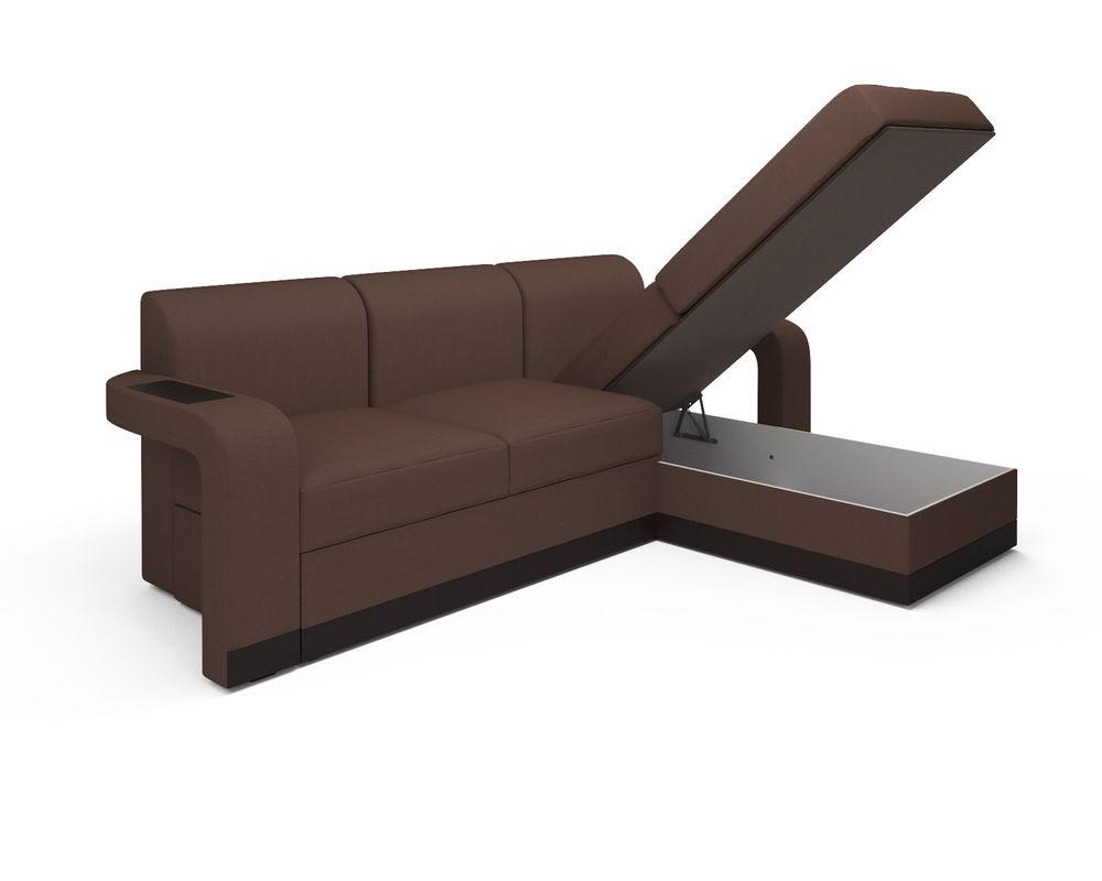 Диван Мебель-АРС Сенатор (рогожка шоколад) - фото 5
