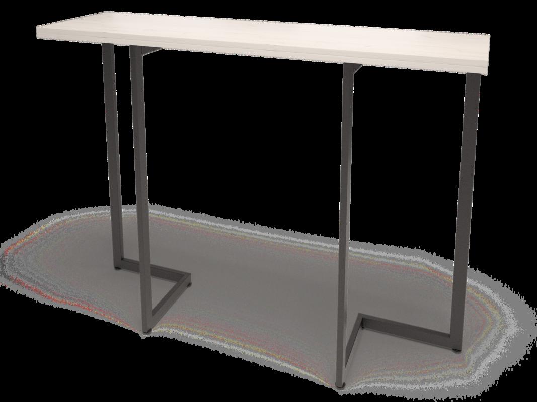Барная стойка MillWood Арлен 3 (дуб белый Craft/металл черный) - фото 1