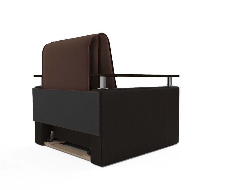 Кресло Мебель-АРС Шарм - шоколад (микровелюр + экокожа) - фото 4