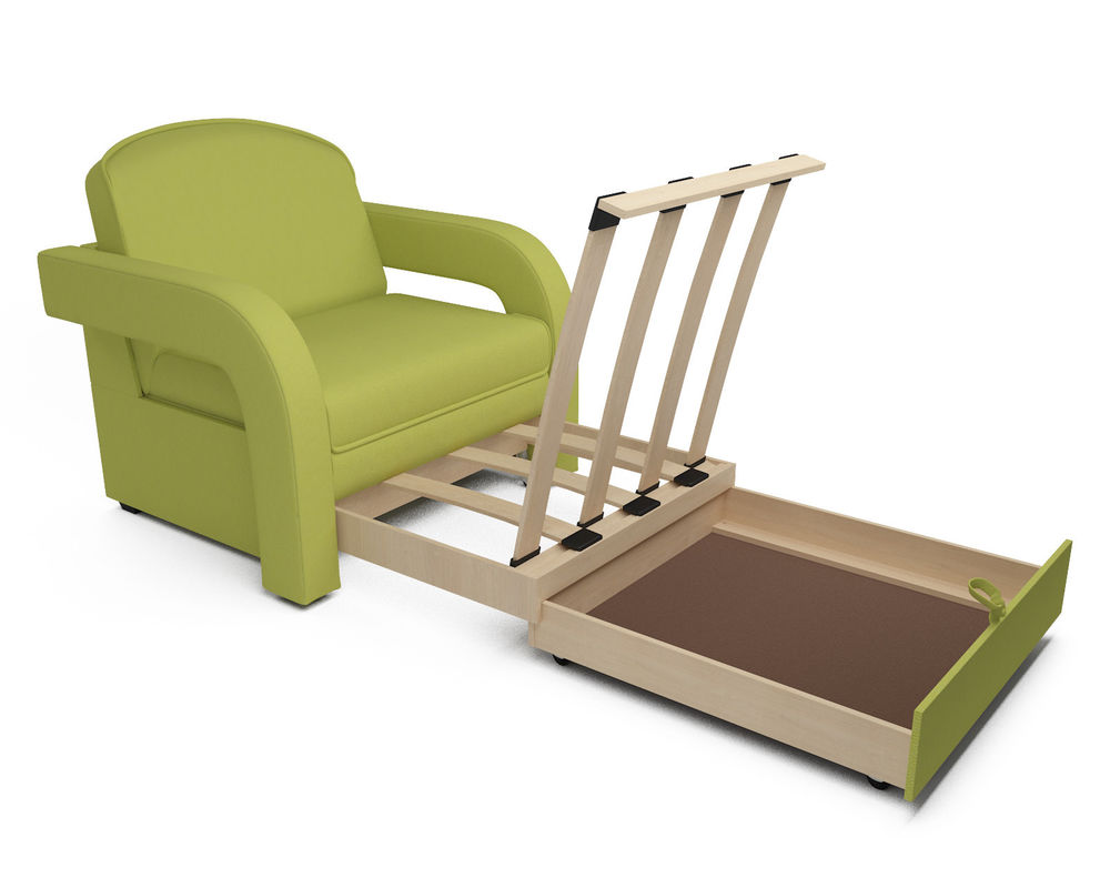 Кресло Мебель-АРС Кармен-2 зеленый (рогожка) - фото 6